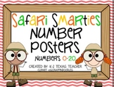 Safari Smarties Number Posters: A Jungle Teaching Tool Math Poster Set