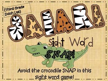 """""""Safari Snap""""  3rd Grade Dolch Sight Words"""