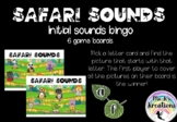 Safari Sounds - Initial Sounds Bingo