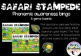 Safari Stampede - Phonemic Awareness Bingo