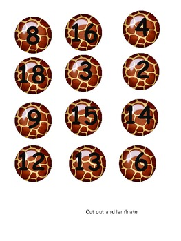 Safari Subtraction - Missing Number