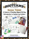 Safari ABC BOOTCAMP & HATS!  Editable 26 Day Introduction