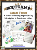 ABC Bootcamp! A 26 Day Introduction To Letters And Sounds - Safari Theme