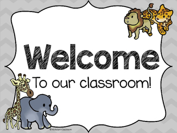 Safari Theme - Animals of Africa Welcome Signs