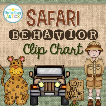 Safari Jungle Theme Behavior Clip Chart