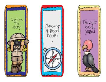 Safari Theme Bookmark Set