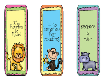 Safari Theme Bookmark Set