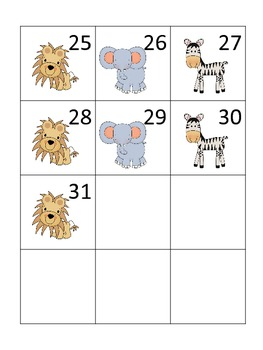 Safari Theme Calendar Pieces