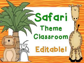 Safari or Jungle Theme Classroom {Editable}