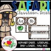Safari Theme Classroom Decor- Editable