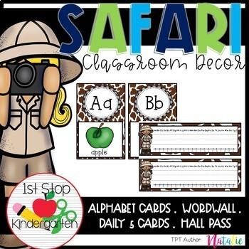 Safari Theme Classroom Decor- Editable