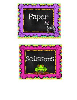 Safari Theme Classroom Labels