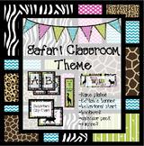 Safari Theme Classroom Pack