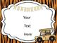 Safari Theme Classroom Posters {EDITABLE}