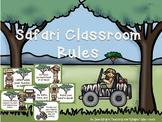 Safari Theme Classroom Rules (editable)