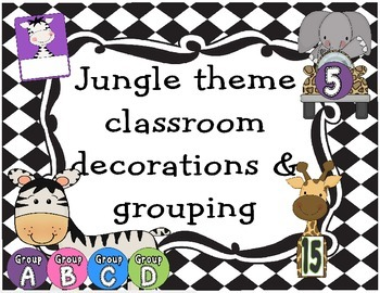 Safari Theme Classroom set up
