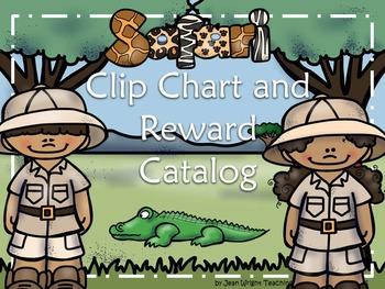 Safari Theme Clip Chart and Reward Catalog