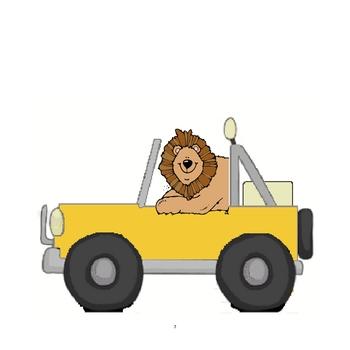 Safari Theme - Color Word Jeeps