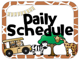 Safari Theme Daily Schedule | Analog & Digital