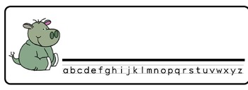 Safari Theme Desk Nameplates (Set of Four)