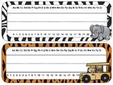 Safari Theme Desk Tags and Name Plates {EDITABLE}