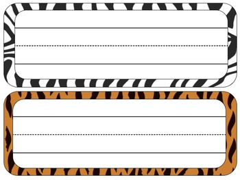 Safari Theme Desk Tags and Name Plates {EDITABLE}