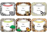 Safari Theme Name Cards {EDITABLE}
