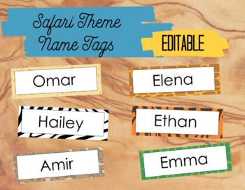 Safari Theme Name Tags