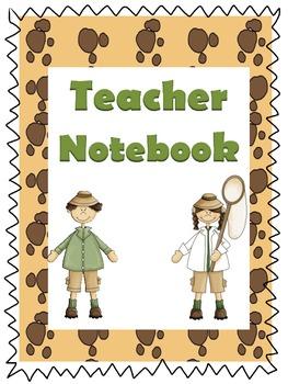 Safari Theme Teacher Notebook Headers