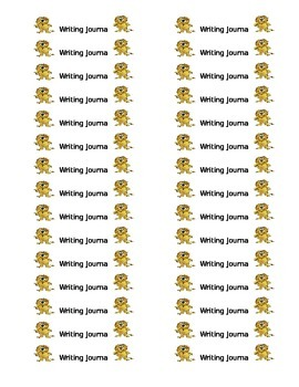 Safari Theme Writing Journal Labels