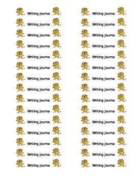 Safari Theme Writing Journal Labels