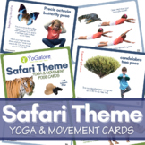 Safari Theme Yoga & Movement Pose Cards with Lesson Plan