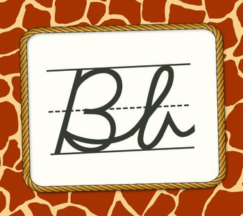 Safari Themed Alphabet - Cursive