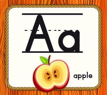 Safari Themed Alphabet - Manuscript