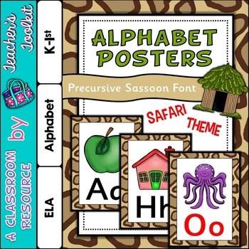Safari Themed Alphabet Posters Frieze {UK Teaching Resource}