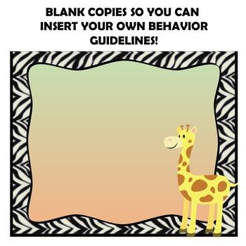 Safari Behavior Clip Chart