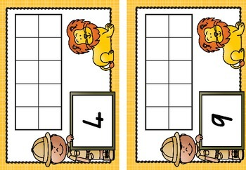 Safari Themed - Blank Tens Frames to 20