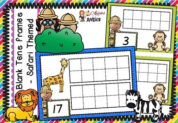 Safari Themed - Blank Tens Frames to 20