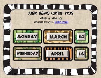 Safari Themed Calendar Pieces