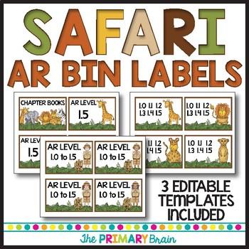 Safari Themed Classroom Decor Pack Bundle