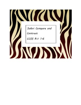 Safari Themed Compare and Contrast