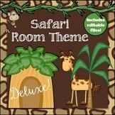 Safari Room Theme Classroom Decor Set {Editable}