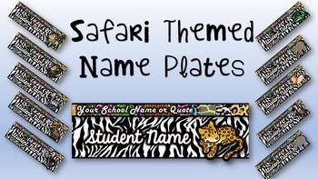 Safari Themed Desk Name Plates