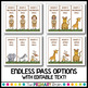 Safari Themed Editable School Passes for Restroom, Nurse, Office, and more!