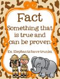 Safari Themed Fact or Opinion Posters {FREEBIE}