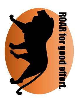 Safari Themed Growth Mindset Posters