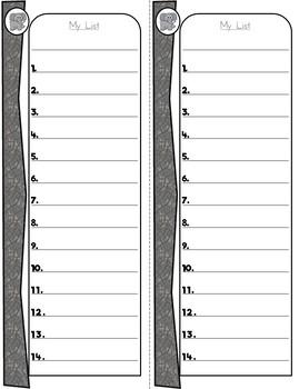 Safari Themed Lists for K-1: Elephant Sight Words