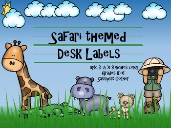 Safari Themed Name Plates