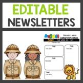Safari Themed Newsletters Editable