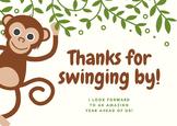 Safari Themed Thank you Card